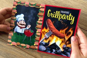 PDF-Vorlage für Einladung</br> zur BBQ und Grillparty