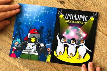 Printable Vorlage für Einladung</br> zur Discoparty