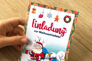 DIY-Vorlage für Einladungskarte zur Weihnachtsfeier
