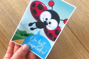 Süße Marienkäfer-Einladung</br> selbst basteln