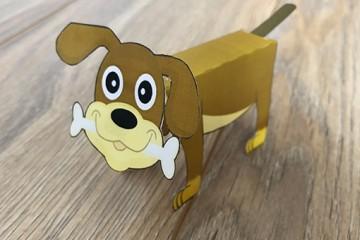 Eine einfache und tolle Bastelidee für Kinder – Hund aus Papier