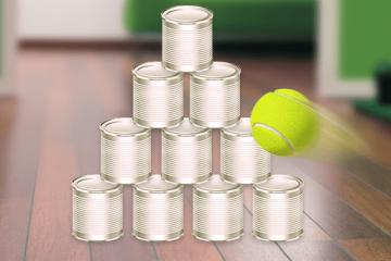 Dosenwerfen — Anleitung</br> mit Tipps zum Spiel