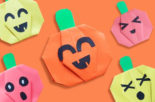 DIY Origami Schädels zur Halloween basteln