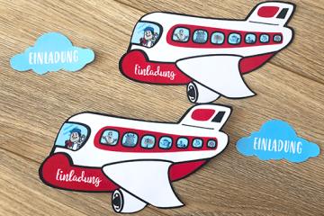 Die perfekte Einladung</br> für deine Flugzeugparty