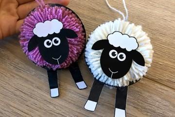 Bastelanleitung für ein schönes Schaf</br>aus Papier und Wolle