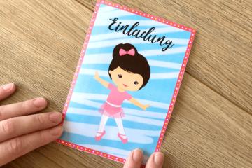 Süße Einladung für</br> kleine Ballerinas