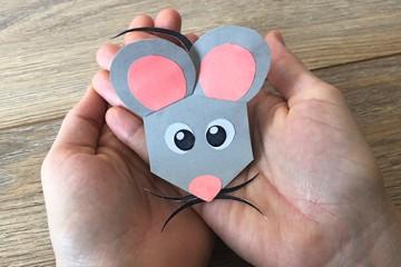 Eine kleine Papier-Maus basteln:</br>DIY mit Druckvorlage