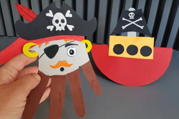 Piraten Handprint für beste Mottoparty zum Kindergeburtstag
