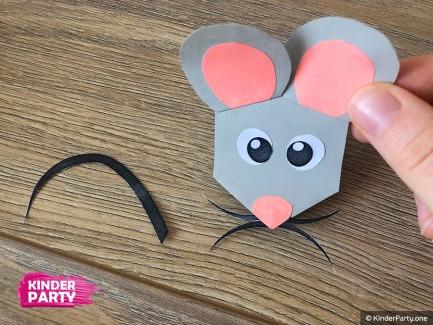 Maus aus Papier selbst basteln