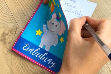 Tierisch gute Einladung für Elefant Kindergeburtstag