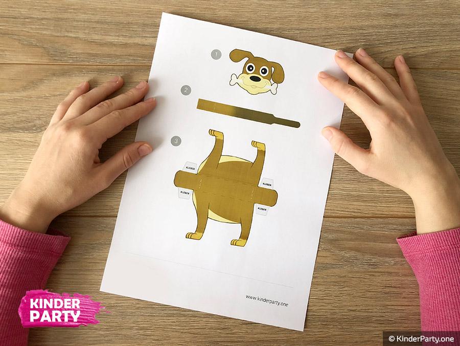 PDF Druckvorlage für Papier-Hund