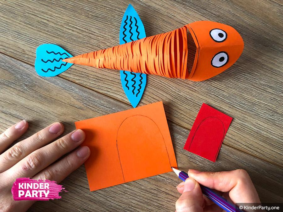 Bastelidee für Kinder - Fisch aus Papier