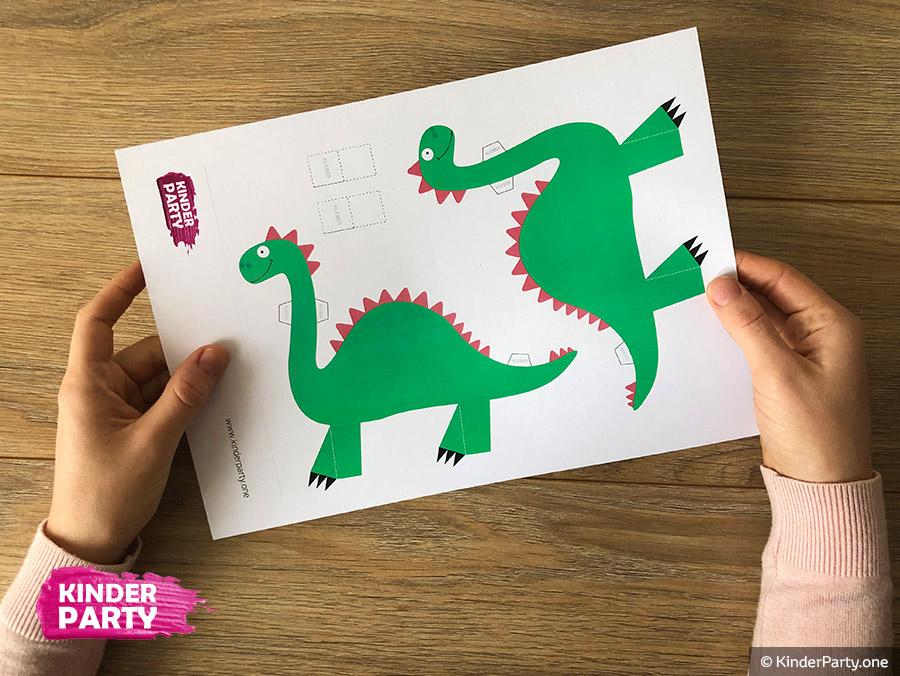 Dinosaurier Basteln Printable Vorlage Fur Kinder