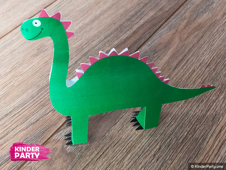Dinosaurier mit Kindern selbst basteln