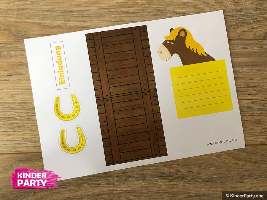 Zum kostenlos ausdrucken einladungskarten pferde Einladungskarten Zum
