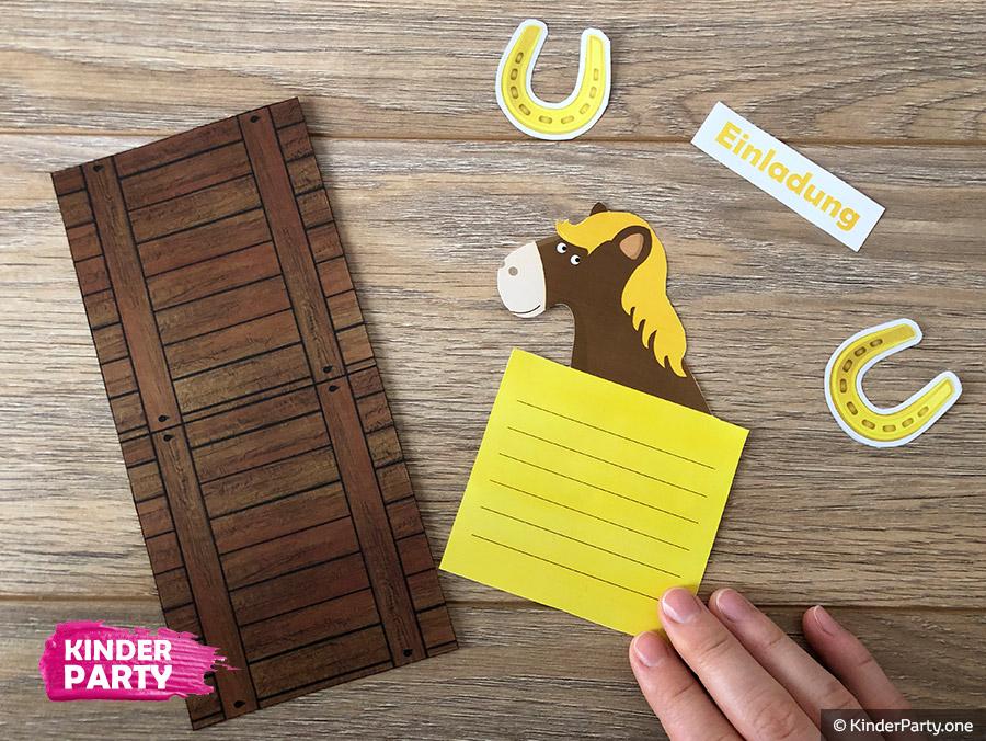 Geburtstagseinladungen zum ausdrucken kostenlos pferde