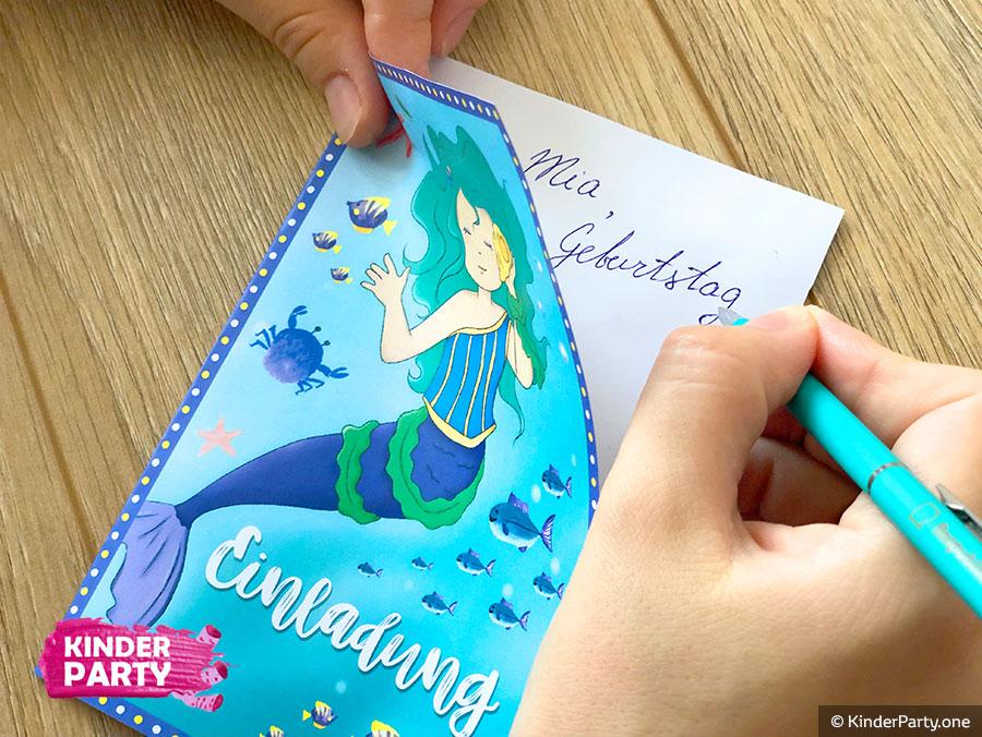 Wir feiern eine Meerjungfrauen-Mottoparty