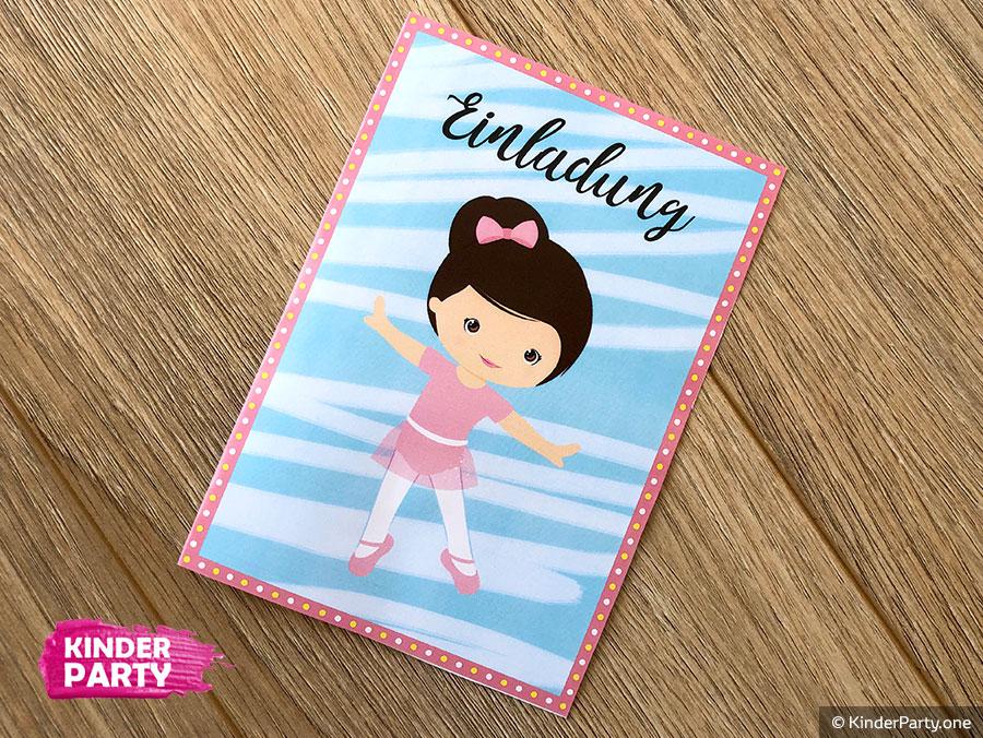 Einladung zum Ballerina-Kindergeburtstag ausdrucken