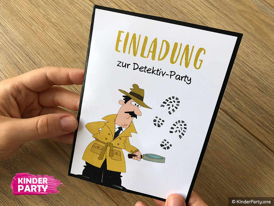 DIY Einladungskarte für Detektiv Geburtstag basteln