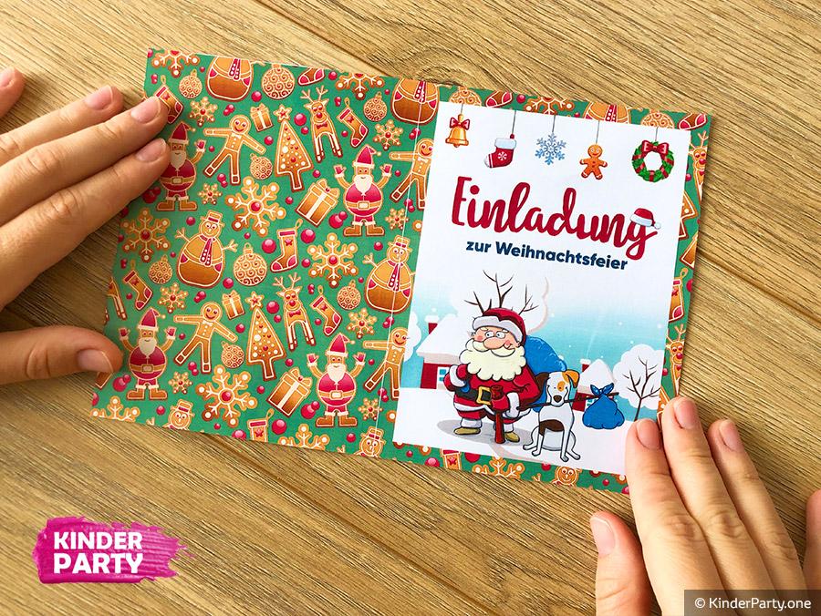 PDF-Schablone für Einladung zur Weihnachts- und Adventsfeier