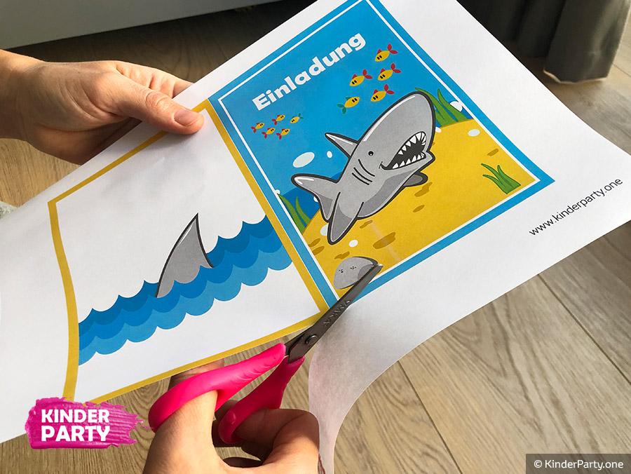 Einladungskarte zum Unterwasserwelt-Kindergeburtstag
