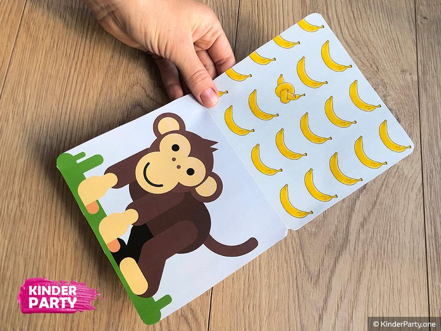 wir basteln Affe Einladung