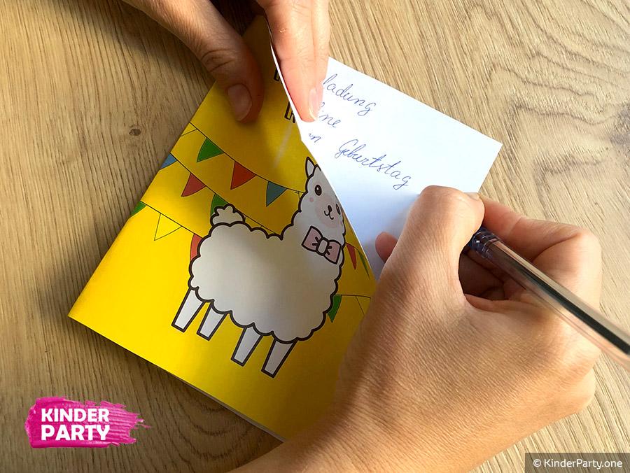 Kostenlose Lama Geburtstagseinladung