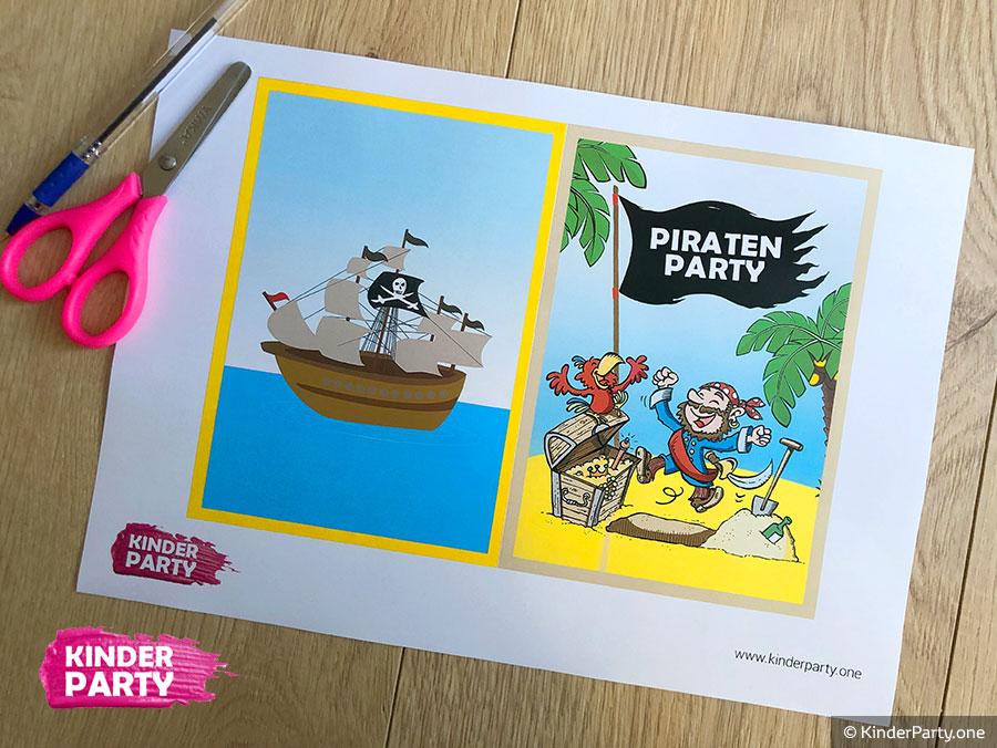 PDF-Schablone für Piraten Einladung