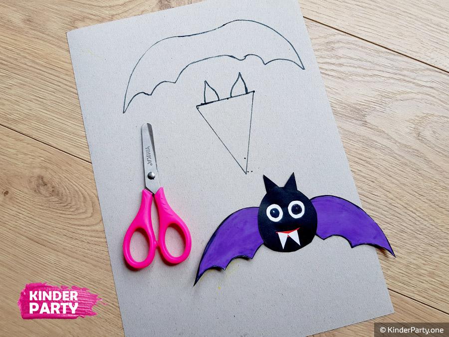 Vorlage für Fledermaus aus Papier
