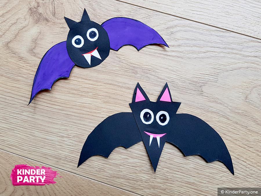 Fledermaus für Halloween selber basteln