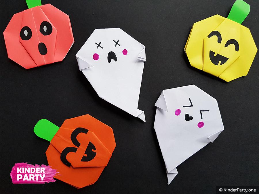 Halloween Geist aus Papier basteln