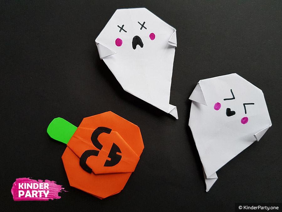 Origami Gespenst für Kinder