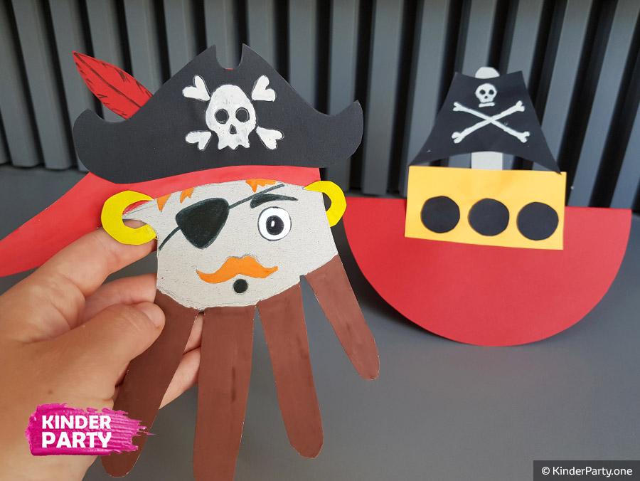 Piraten aus Tonpapier mit Kindern basteln