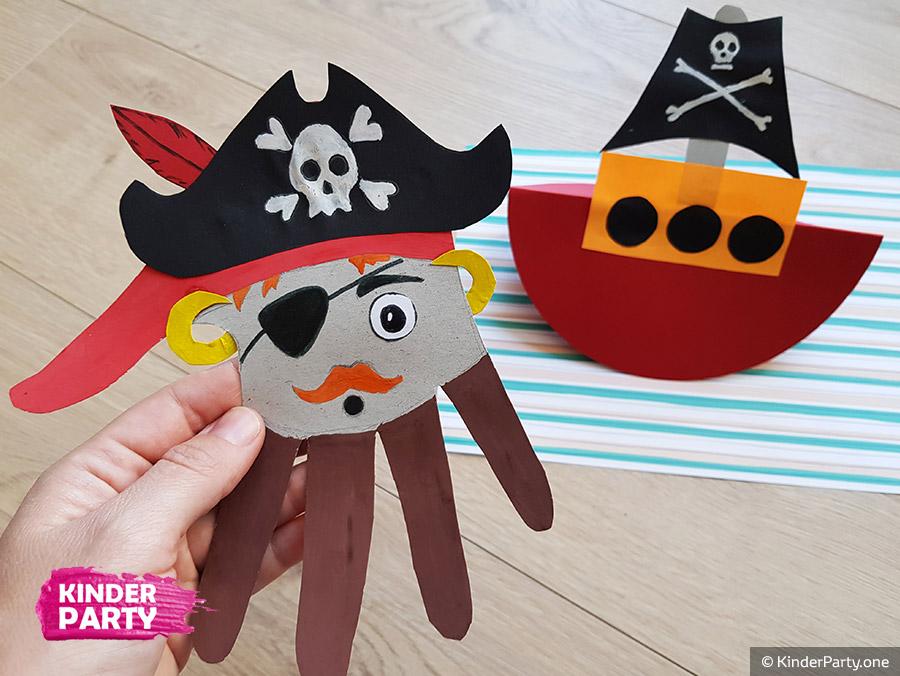 Pirat mit dem Schiff zum Kindergeburtstag basteln