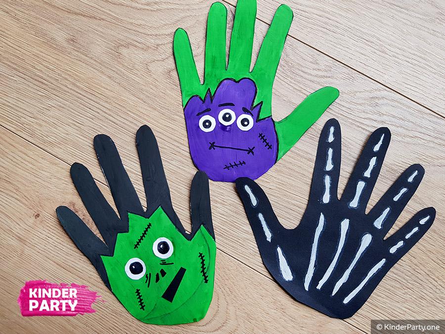 Halloween Deko - Monster Handabdruck