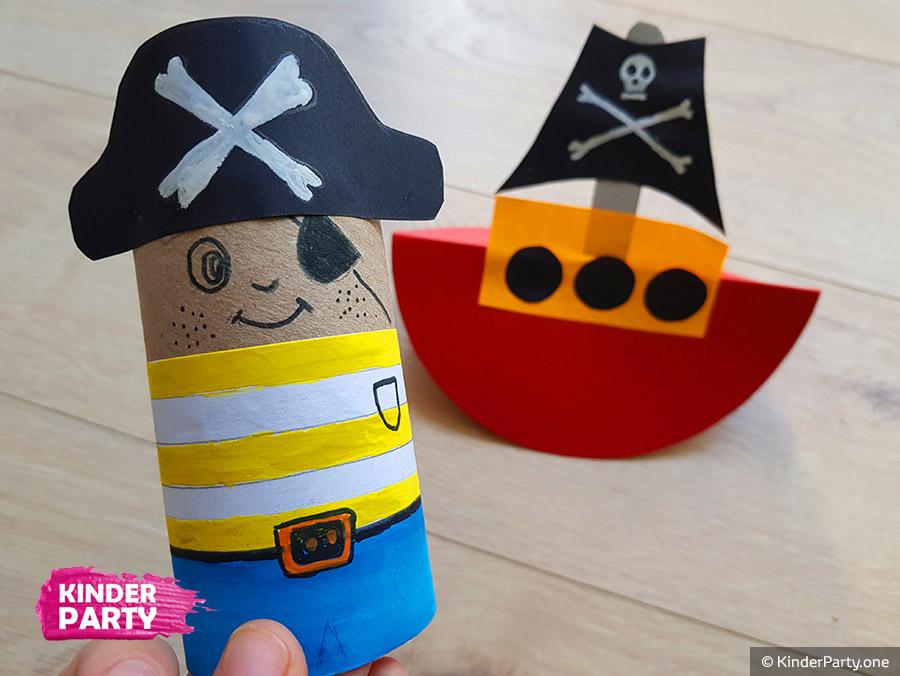 Bastelidee für Piraten Kindergeburtstag