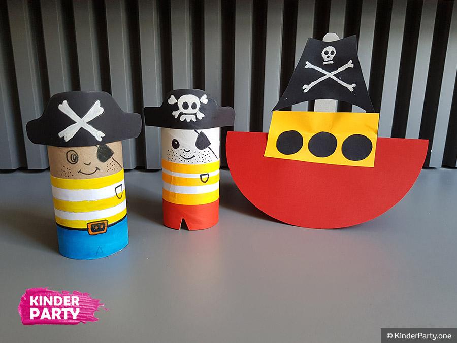 Piraten mit Kindern basteln